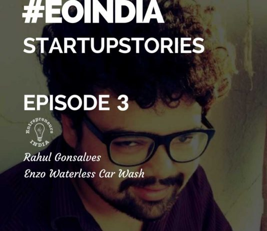 Young Indian entrepreneurs and founder of enzo_car_wash
