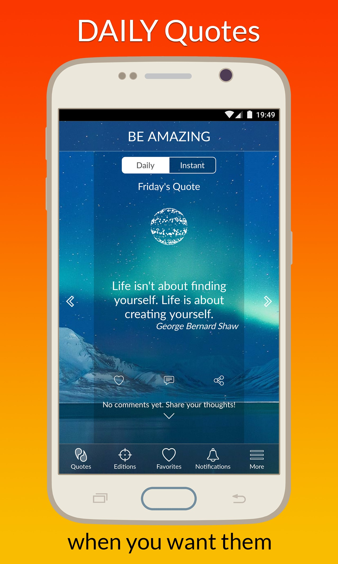 Best android  app intended to deliver motivational quote every day