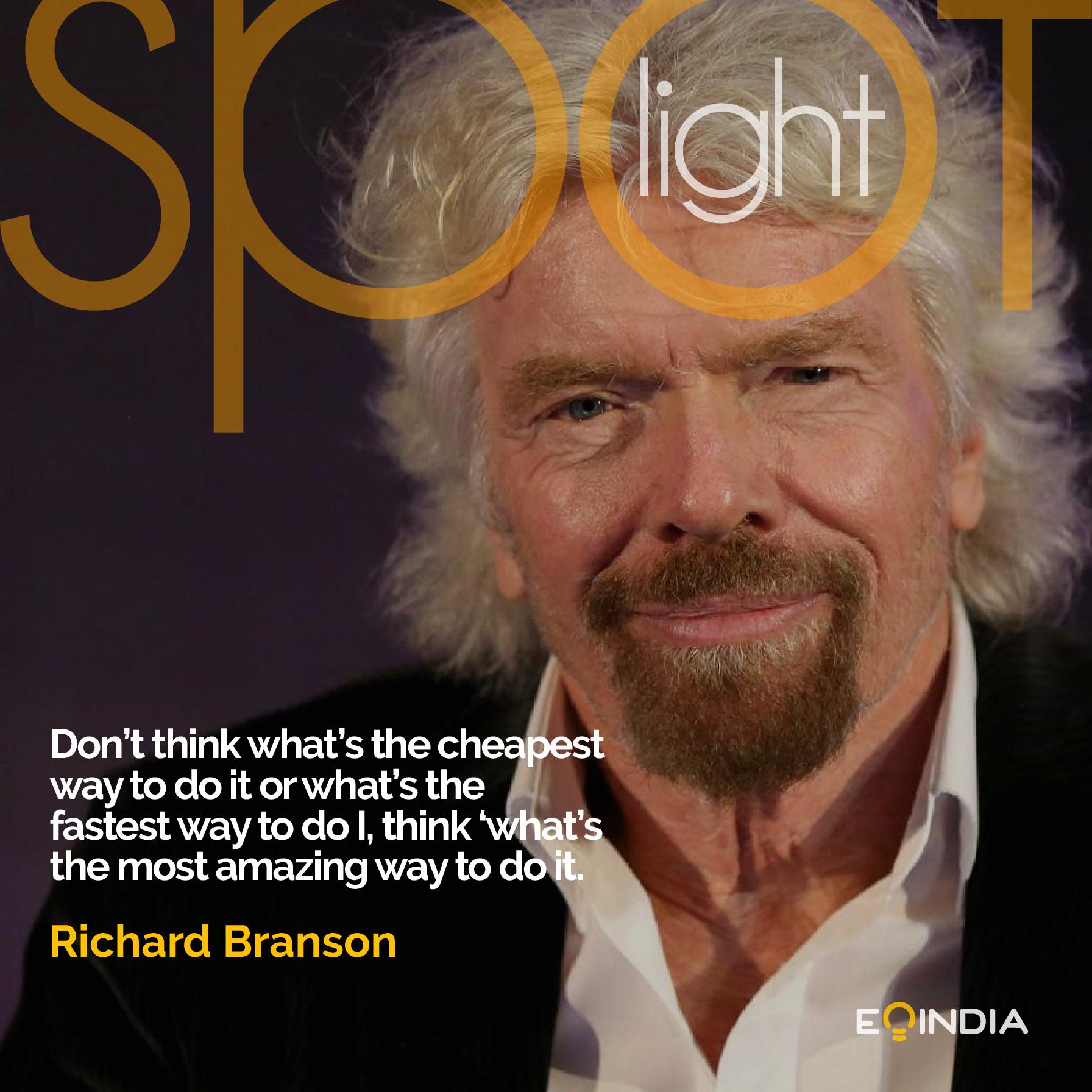 Richard Branson- inspiring entrepreneur